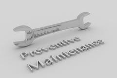 Concept de maintenance préventive Image libre de droits