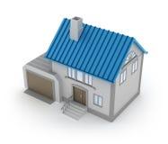 Concept de maison avec le garage Image stock