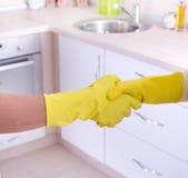 Concept de maison de nettoyage Photo libre de droits