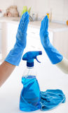 Concept de maison de nettoyage Photographie stock