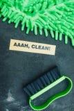 Concept de maison ou de bureau de nettoyage Photo libre de droits