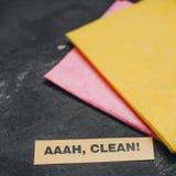 Concept de maison ou de bureau de nettoyage Photo stock