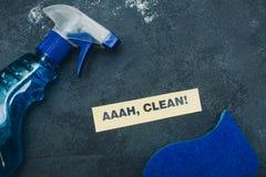 Concept de maison ou de bureau de nettoyage Images stock