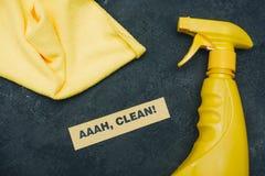 Concept de maison ou de bureau de nettoyage Images libres de droits