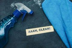 Concept de maison ou de bureau de nettoyage Photographie stock libre de droits