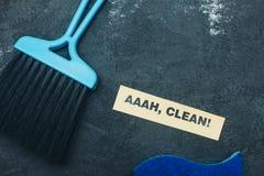 Concept de maison ou de bureau de nettoyage Photos libres de droits