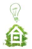 Concept de maison verte illustration libre de droits