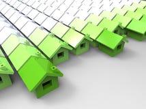 Concept de maison verte illustration de vecteur