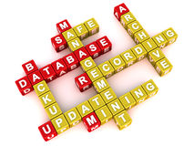 Concept de management de base de données illustration stock