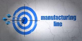 Concept de Manufacuring : ligne de cible et de fabrication sur le fond de mur illustration libre de droits