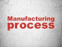 Concept de Manufacuring : Processus de fabrication sur le fond de mur illustration stock