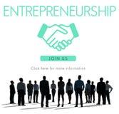 Concept de marchand d'entreprise constituée en société d'esprit d'entreprise Images libres de droits