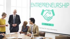 Concept de marchand d'entreprise constituée en société d'esprit d'entreprise Photos stock