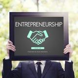 Concept de marchand d'entreprise constituée en société d'esprit d'entreprise Photographie stock libre de droits