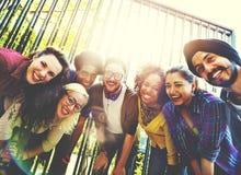 Concept de marche d'amusement d'unité de parc d'amitié d'amis Images libres de droits