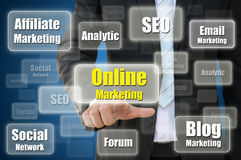 Concept de marketing en ligne Photos libres de droits