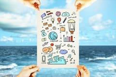 Concept de marketing en ligne Image stock