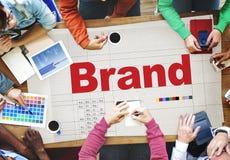 Concept de marquage à chaud d'affaires de stratégie marketing de marque Photographie stock libre de droits