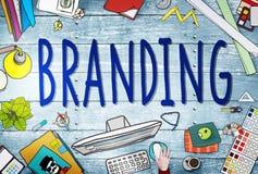 Concept de marquage à chaud d'identité de stratégie commerciale de marketing de marque illustration de vecteur