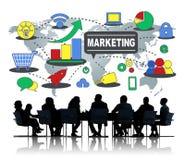 Concept de marquage à chaud de commercialisation de croissance de connexion d'affaires globales Photo libre de droits