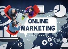 Concept de marquage à chaud de publicité de promotion de marketing en ligne photographie stock