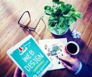 Concept de marquage à chaud sensible de développement de Web de web design photographie stock