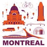 Concept de marquage à chaud de technologie de ` de Montréal de ` de mot de typographie illustration libre de droits