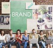 Concept de marque déposée de profil du marché de label de marquage à chaud de marque Photos stock
