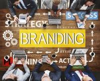 Concept de marque déposée de profil du marché de label de marquage à chaud de marque Images libres de droits