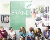 Concept de marque déposée de profil du marché de label de marquage à chaud de marque Photos libres de droits