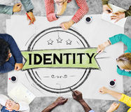 Concept de marque de Copyright de vente de marquage à chaud d'identité Photos libres de droits
