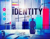 Concept de marque de marque déposée d'individualité de nom d'identité image stock