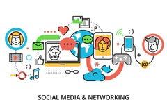 Concept de media social, d'actualités en ligne et de blogging Image libre de droits