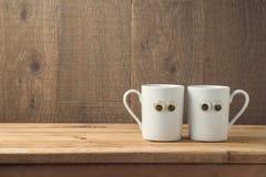Concept de meilleurs amis avec deux tasses de café Photos libres de droits