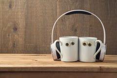 Concept de meilleurs amis avec deux tasses de café Images libres de droits