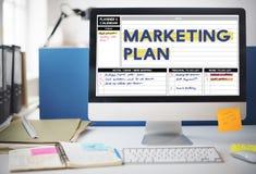 Concept de message publicitaire de la publicité de marquage à chaud de stratégie de plan marketing Photographie stock libre de droits