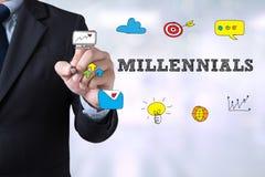 CONCEPT DE MILLENNIALS Photographie stock libre de droits