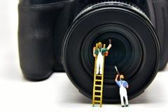 Concept de Minifigure Photographie stock