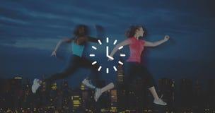Concept de minute d'heure d'Orgarnization de minuterie de temps d'horloge Images libres de droits