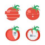 Concept de minuterie de Pomodoro illustration libre de droits