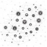 Concept de mise en réseau d'Internet Photos libres de droits