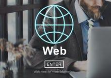 Concept de mise en réseau de connexion de développement d'Hébergement Web Photo stock