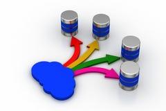 Concept de mise en réseau de nuage avec le serveur Images stock
