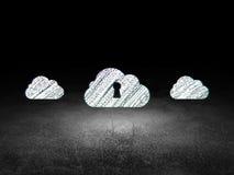 Concept de mise en réseau de nuage : icône de nuage dans le grunge Image stock
