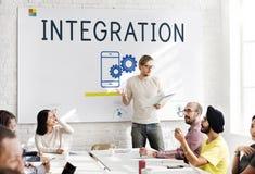 Concept de mise en réseau de technologie de connexion de communication Image libre de droits