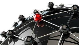 Concept de mise en réseau et d'associé illustration 3D illustration libre de droits
