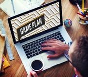 Concept de mission de buts d'affaires de motivation de stratégie Photos stock