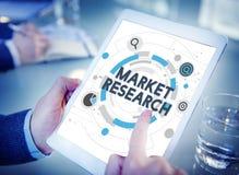 Concept de mission de stratégie de cible de recherche de marché images stock