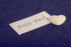 Concept de Mlle You avec un coeur Photos stock