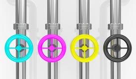 Concept de modèle de couleur de cmyk Images stock